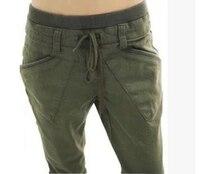Novo 2017 primavera harem pants casuais solta cor sólida de alta qualidade das mulheres calças de cintura elástica plus size calças femininas T-127