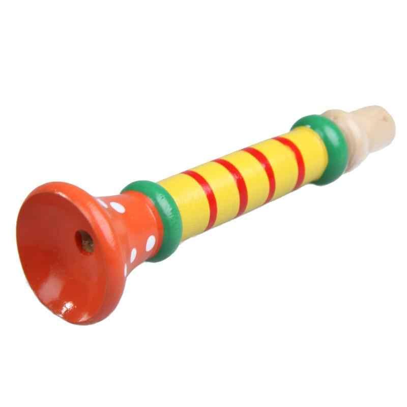 الملونة خشبية مسجل التعليمية البوق Buglet الألعاب التعليمية غير سام طعم الاطفال الموسيقى اللعب