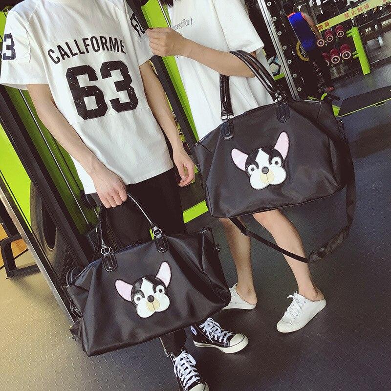 Travel bag light weight cute chic shoulder bag female handbag  large capacity short-distance luggage bag