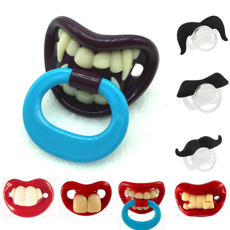Top Silicone Funny Nipple Dummy Baby Pacifiers Soother Joke Prank Toddler Pacy Orthodontic Nipples Teether Baby Pacifier Care