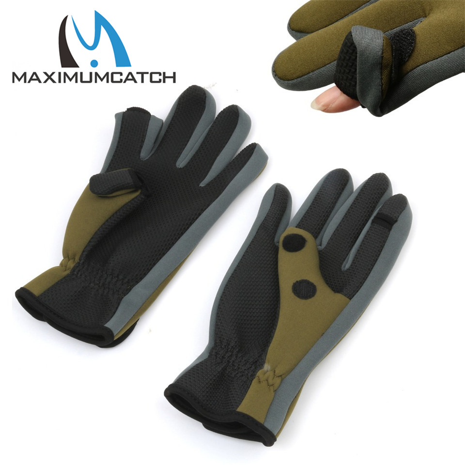 Maximumcatch Anti Slip font b Gloves b font Comfortable Fishing font b Gloves b font Outdoor