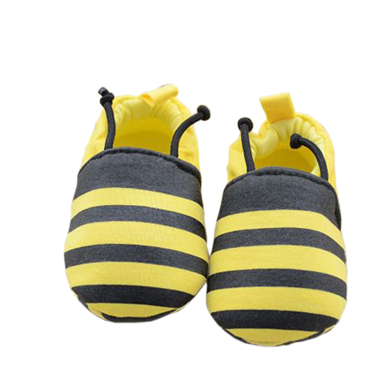 Handmade Soft Bottom Toddler Fashion Bees Baby Newborn First Walkers Babies Crib Striped Shoes Prewalkers First Walker T0187