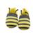 Hecho a mano de Niño de Fondo Blando Moda Abejas Bebé Recién Nacido Primeros Caminante de Los Bebés de Rayas Zapatos del Pesebre Prewalkers Primer Caminante T0187