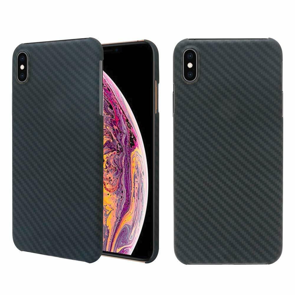 Роскошный чехол из настоящего углеродного волокна 100% для Apple IPhone X XS Max 7 8 Plus Тонкий чехол матовый черный