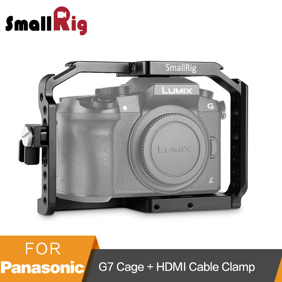 SmallRig G7 Cage for Panasonic Lumix DMC G7 Camera Cage with HDMI Cable Clamp Cold Shoe
