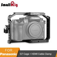 SmallRig G7 Käfig für Panasonic Lumix DMC-G7 Kamera Käfig mit HDMI Kabel Klemme + Kalten Schuh + Montieren Nato Schiene -1779