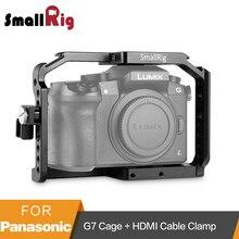 SmallRig para Panasonic Lumix DMC-G7 Gaiola Câmera com HDMI Cable Clamp + Sapata Fria + Montar Ferroviário Da Nato-1779