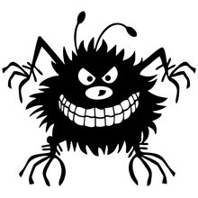 CS-774#18*20cm Babayka. The cool monster funny car sticker vinyl decal silver/black for auto stickers styling decoration