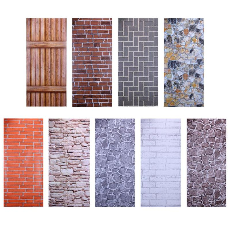 Brick 3D Wall Stickers DIY Self Adhesive PVC Wallpaper Art Decals for Home Living Room Decor Decorative Stickers 1