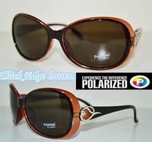 2015 Thick Edges brown customized Driver's TAC enhanced polarized polaroid polarised golf fishing UV 400 women sunglasses
