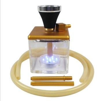 Small Size Transparent Arab Style Glass Hookahs Huge Vapor Shisha Chicha Vaporizer Narguiles Smoking Water Pipes