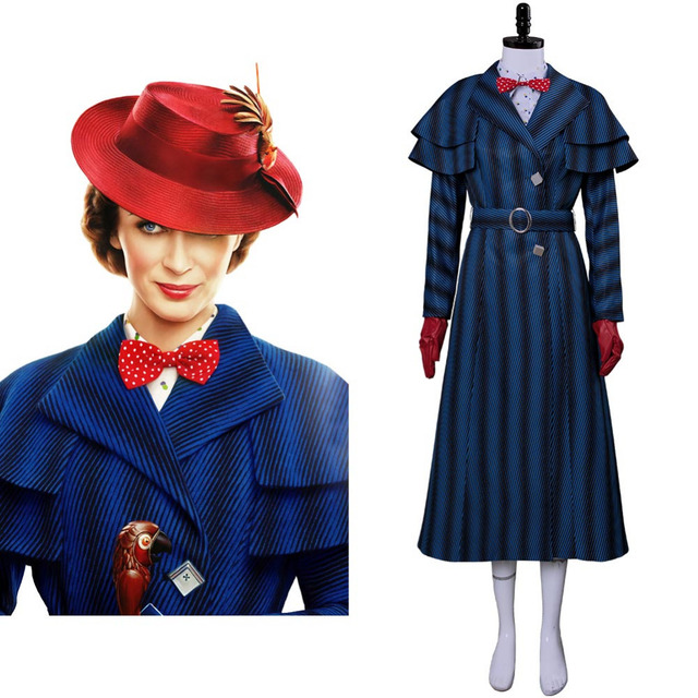 sconto materiali superiori imbattuto x US $108.29 9% di SCONTO|2018 Cosplay Mary Poppins 2 Mary Poppins di Ritorno  Costume Di Natale del Vestito Set Completo in 2018 Cosplay Mary Poppins 2  ...