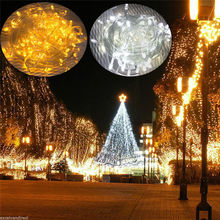 10M 20M 30M 50M 100M LED string Fairy light holiday Patio Christmas Wedding decoration AC220V Waterproof outdoor light garland 50m 400 leds ac220v waterproof outdoor colorful led xmas christmas light for wedding christmas party holiday