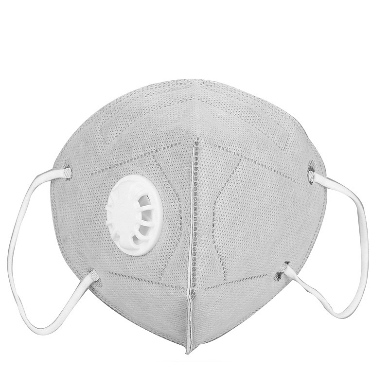 New 10Pcs Fold Flat Dust Mask With Valves For Work Safety House Clean Dust-Proof Anti Fog Mask Disposable Respirator PM2.5 N95
