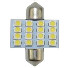 цена на 1pcs Festoon 31mm LED Dome Light Bulbs 16 SMD 3528 Car LED Interior Light Bulbs Auto Map Reading Lamp White 12V