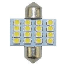 цена на 1pcs Festoon 42mm LED Dome Light Bulbs 16 SMD 3528 Car LED Interior Light Bulbs Auto Map Reading Lamp White 12V