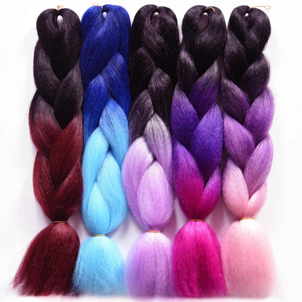 """Chorliss 24 """"огромные синтетические волосы для наращивания Омбре плетение волос прямые вязанные крючком косы 1 btсерого Bluetooth серого цвета 100 г/упак."""