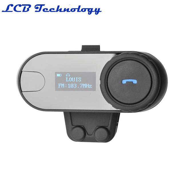 2016 Nueva Caliente Con Función de FM! 800 M 3 Jinetes BT de La Motocicleta del Intercomunicador Intercomunicador Del Casco de Auriculares Bluetooth Inalámbrico de Altavoces Hi-Fi