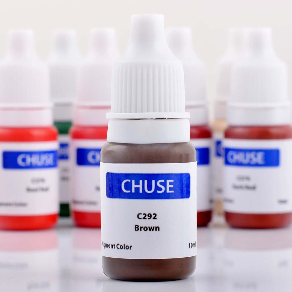 CHUSE C292 10ml Brown Color Micro Makeup Tattoo Ink Pigments for Eyebrow & Shaded Cosmetic 3D Effect Tattoo Color  TaTy PMU