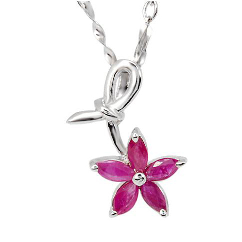 купить 2017 Collares Collier Qi Xuan_Red Stone Flower Pendant Necklaces_Real Necklaces_Quality Guaranteed_Manufacturer Directly Sale онлайн
