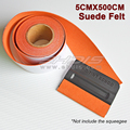 Replacement Velvet Felt Only - Pro Tint Bondo Vinyl Warp Squeegee Wrapping Tool / size 5cmx500cm Suede Felt Edge for Squeegee