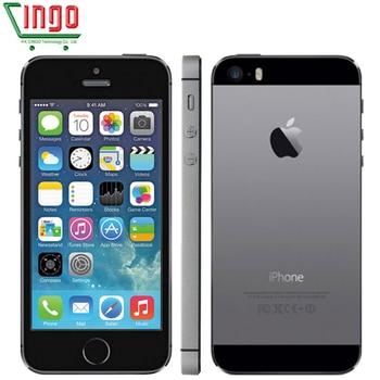 iPhone 5s Factory Unlocked Apple iPhone 5s 16GB 32GB 64GB ROM 8MP iOS  4.0IPS 8MP WIFI GPS SIRI 4G LTE Mobile Phone digital clock