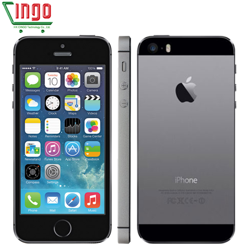IPhone 5 s débloqué en usine Apple iPhone 5 s 16 GB 32 GB 64 GB ROM 8MP iOS 4.0 IPS 8MP WIFI GPS SIRI 4G LTE téléphone portable