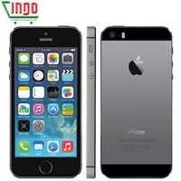IPhone 5s usine débloqué Apple iPhone 5s 16GB 32GB 64GB ROM 8MP iOS 4.0 IPS 8MP WIFI GPS SIRI 4G LTE téléphone portable