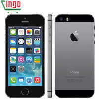iPhone 5s Factory Unlocked Apple iPhone 5s 16GB 32GB 64GB ROM 8MP iOS 4.0IPS 8MP WIFI GPS SIRI 4G LTE Mobile Phone