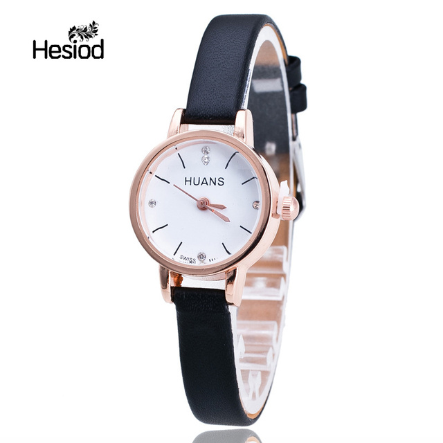 Classic Simple Women Bracelet Watches Pure Color Fashion PU Leather Ladies Slim