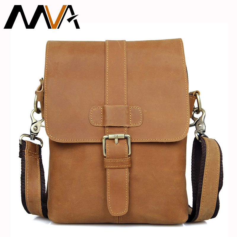 ФОТО MVA Small Leather Shoulder Crossbody Bags Men Messenger Bags Genuine Leather Men Bag Zipper Small Mini Bag Flap Casual Handbag