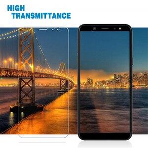 Image 4 - Protector de pantalla de vidrio templado 9H para móvil, película Sklo para Samsung Galaxy A6 2018 A600 A600FN, A6 + A6 Plus 2018 A605 A605FN