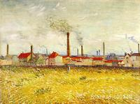 Modern art Factories at Asnieres Seen from the Quai de Clichy by Vincent Van Gogh reproduction Hand painted High quality