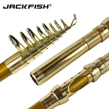 JACKFISH 99% Carbon Portable Telescopic Fishing Rod Carp Fishing Spinning Rod  Spinning Fish Hand short Sea Rod Fishing Tackle