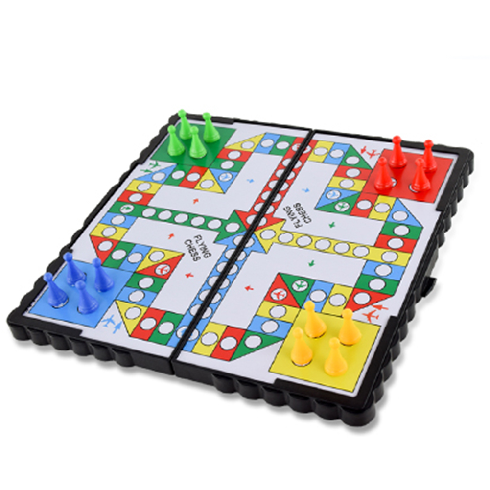 HTB1Es04a.Y1gK0jSZFMq6yWcVXa1 Mini Magnetic Foldable Flying Chess Crawling Mat Ludo Portable Board Game Camping Travel Game Set Fast Dispatch 21*21*2cm
