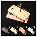 Casos para zte v7 lite 5.0 polegada case v7 lite fino espelho alumínio ouro rosa de volta telefone capa case para zte blade v7 lite Fundas