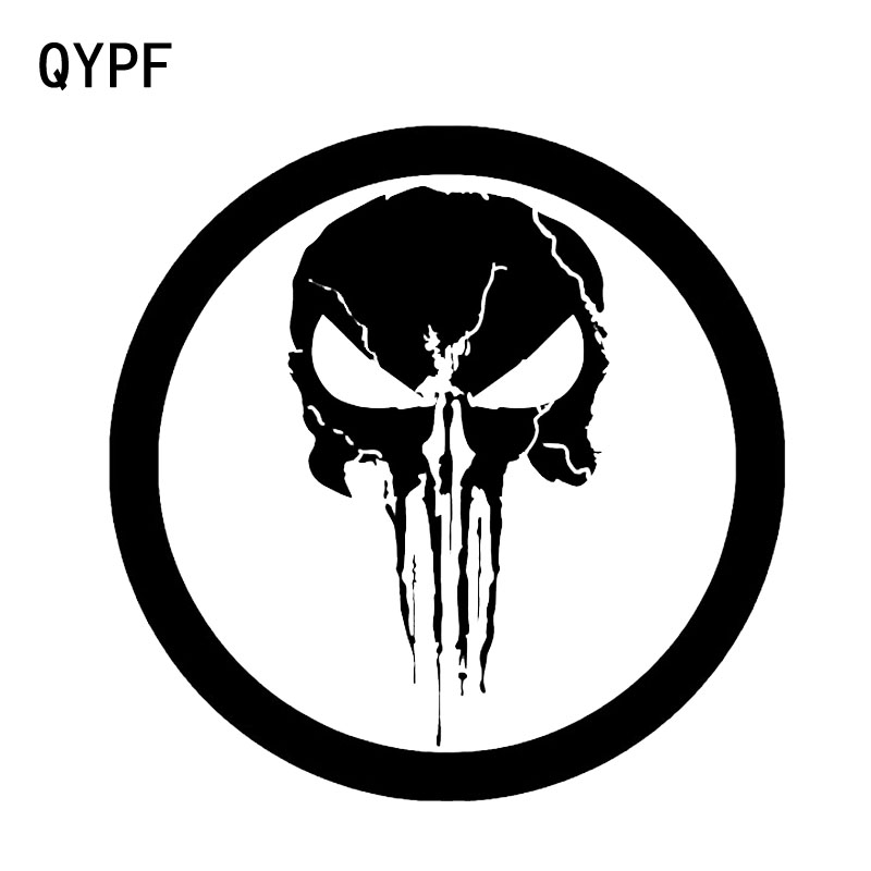 QYPF 15.9*15.9CM Interesting Punisher Decoration Skull