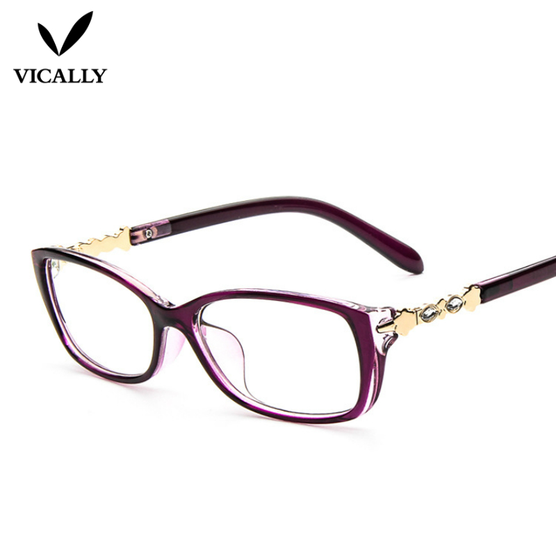 newest eyeglasses frame optical glasses crystal eyeglass frames brand female clear lens glasses frame women retro