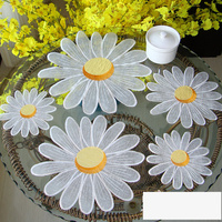 5PCS/set countryside embroidered cabinet floral Table Decoration Accessories Placemat Coffee table mat Pads M545