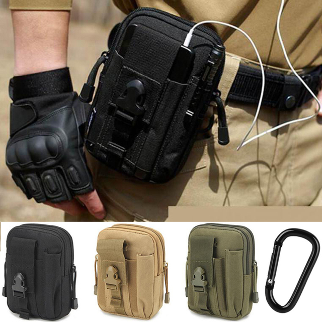Utility Belt Loop Pouch For Iphone X 8 7 6s Plus Waist Holster Nylon Pocket Bag