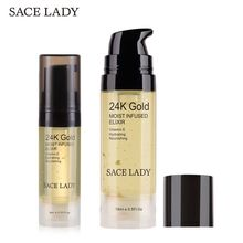 SACE LADY 24K Liquid Makeup Primer Face foundation Moisturiz Anti-Aging Invisible pores Cream make up primer Skin Care Cosmetic sace lady blur primer makeup base face 24k gold foundation primer oil control professional matte make up pores brand cosmetic