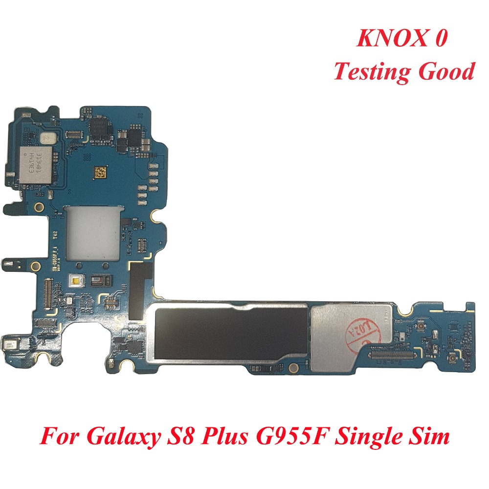 Tehxv Original Motherboard For Samsung Galaxy S8 Plus G955F 64GB Unlocked MainBoard Single SIM Europe Version