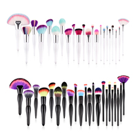 22Pcs Kabuki Makeup Brushes Set Professional Beauty Hair Face Eye Make Up Brush Set Large Concealer