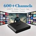 Arábica Caixa de TV Android 6.0 Wi-fi Inteligente Set-top Box com Frete 600 Caixa de IPTV IPTV 1 Ano de Assinatura da Europa Francês Itália Alemanha