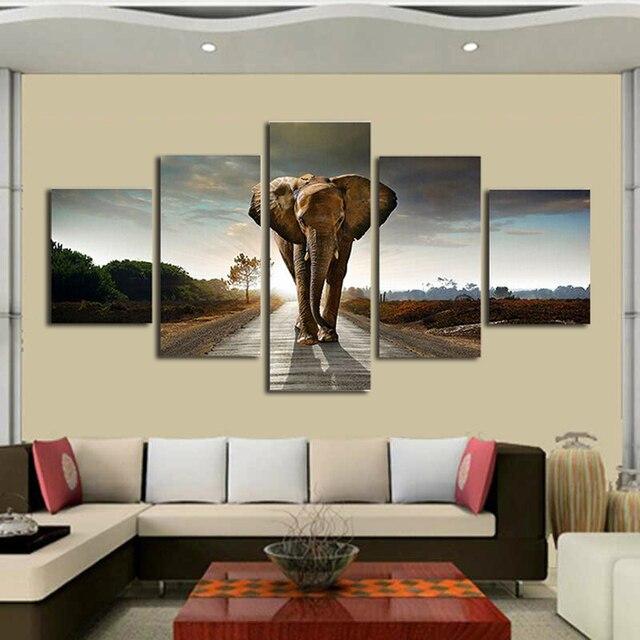 Elephant Animal Paintings Canvas Wall Art Print Paintings Modern