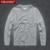 YiRuiSen Mens Sólidos Camisa de Manga Longa T 2016 Fashion100 % Algodão S-3XL O-neck T-shirt Longo da Marca o Desgaste do Outono Roupas Tshirt D006