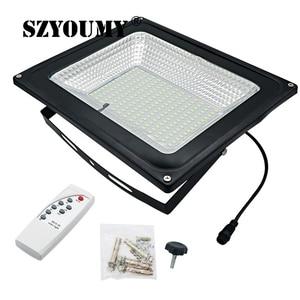 Image 3 - Szyoumy recém chegados led solar remoto luz de inundação 100 w led projector à prova dwaterproof água emergência rua jardim iluminação ip66