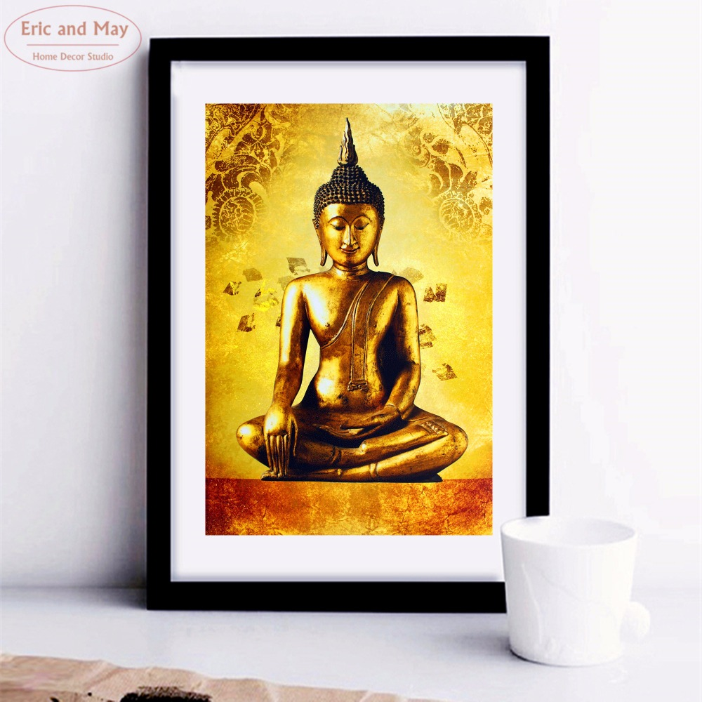 Buddha Gold Body Artwork Posters and Prints Canvas Art Painting Wall ...