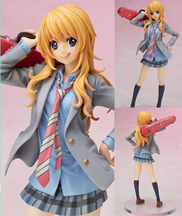 20cm April Is Your Lies 1/8 Miyazono Kaori Premium Box PVC Action Figure Collectible Model Toy  Free shipping