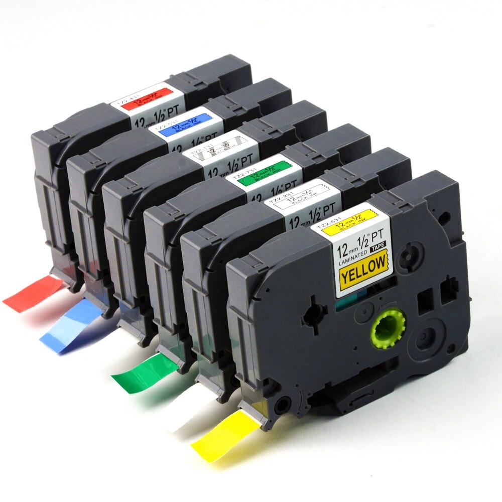 3x Schriftband TZe121 für Brother 9mm P-touch PT-H100LB 1000 1010 H110 D210 D600